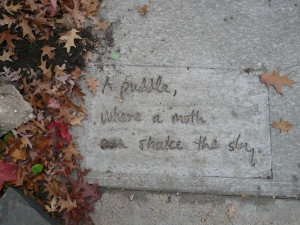 Kevin Walker's sidewalk poem