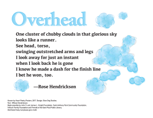 """Overhead"" by Rose Hendrickson."