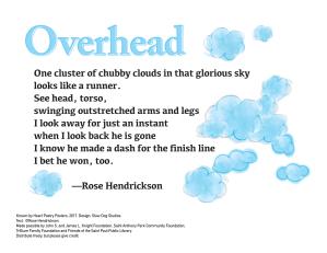 """Overhead"" by Rose Hendrickson."