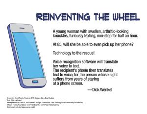 """""""Reinventing the Wheel"""" by Dick Wenkel."""