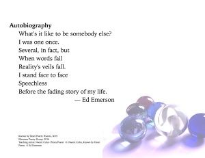 """Autobiography"" by Ed Emerson"